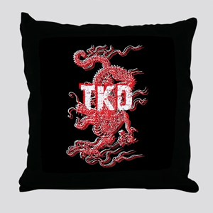 TKD Dragon Black Throw Pillow