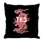 TKD Dragon Black Throw Pillow