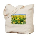 Sunflower Cluster Tote Bag