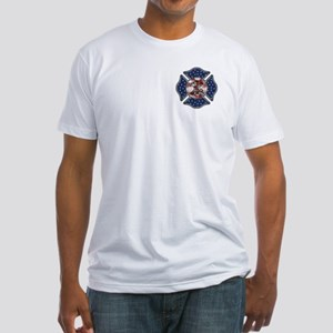 Firefighter USA Fitted T-Shirt
