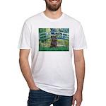 Bridge /Cairn Terrier (w) Fitted T-Shirt