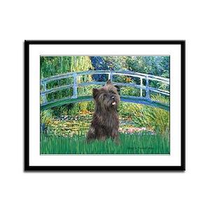 Bridge /Cairn Terrier (w) Framed Panel Print