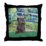 Bridge /Cairn Terrier (w) Throw Pillow