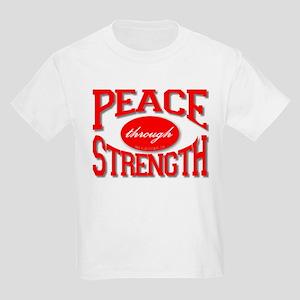 Peace Through Strength Kids T-Shirt