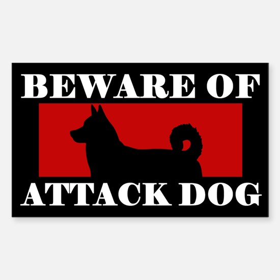 Beware of Attack Dog Canaan Dog Decal