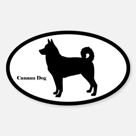 Canaan Dog Silhouette Sticker (Euro Style)