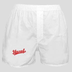 Retro Yusuf (Red) Boxer Shorts