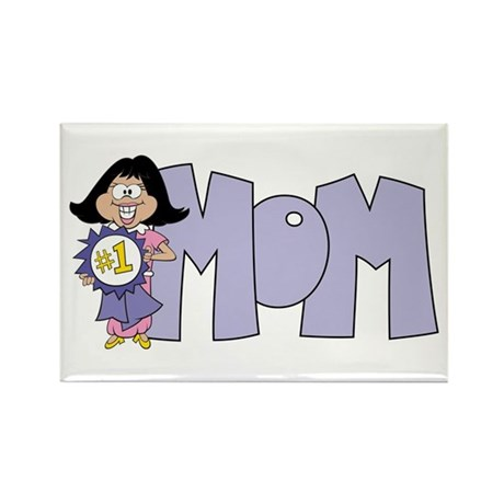 #1 Mom Rectangle Magnet (100 pack)