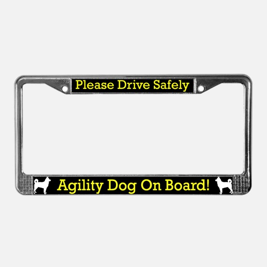 Canaan Dog Agility Dog License Plate Frame