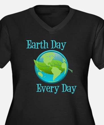 Earth Day, Every Day Women's Plus Size V-Neck Dark