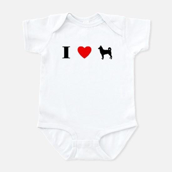 I Heart Canaan Dog Baby Bodysuit