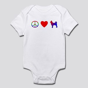 Peace Love Canaan Dog Baby Bodysuit