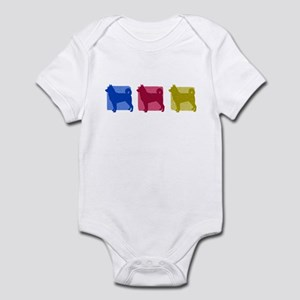 Color Row Canaan Dog Baby Bodysuit