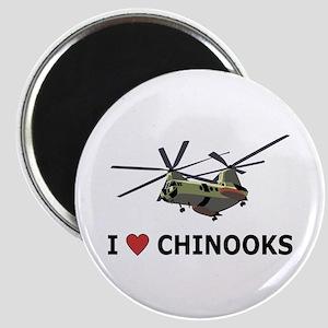 I Love Chinooks Magnet