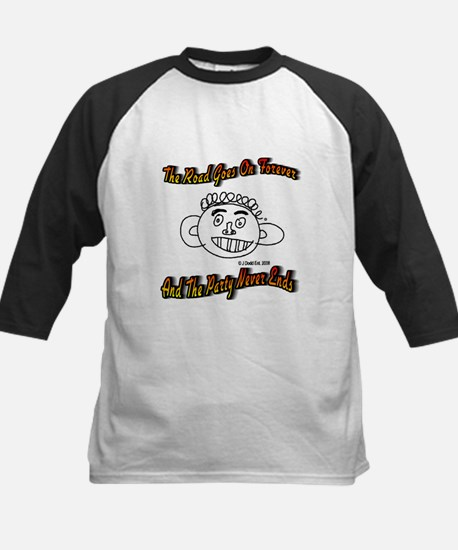 The Road Goes On Forever Kids Baseball Jersey