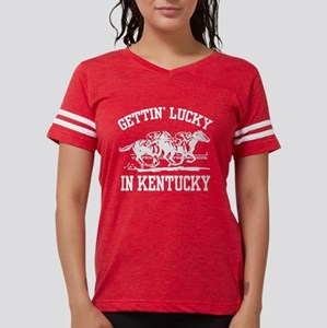 Gettin' Lucky in Kentucky Women's Dark T-Shirt