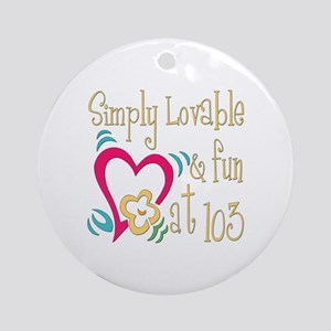 Lovable 103rd Ornament (Round)