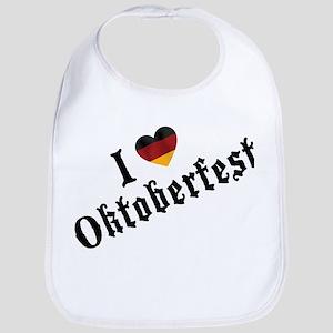 I Love Oktoberfest Bib