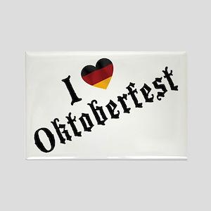 I Love Oktoberfest Rectangle Magnet