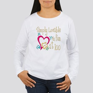 Lovable 100th Women's Long Sleeve T-Shirt