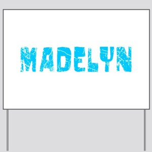 Madelyn Faded (Blue) Yard Sign