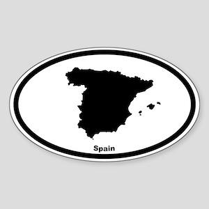 Spain Outline Oval Sticker
