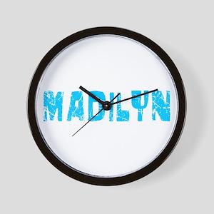 Madilyn Faded (Blue) Wall Clock
