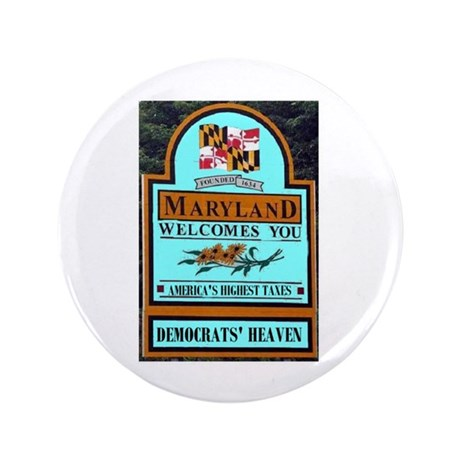 """MARYLAND WELCOME 3.5"""" Button"""