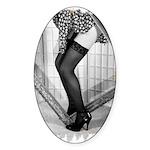 Thigh Highs Oval Sticker