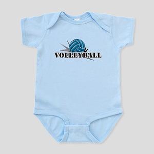 Volleyball starbust blue Infant Bodysuit