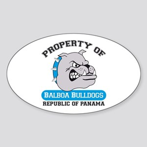 Bulldog Oval Sticker