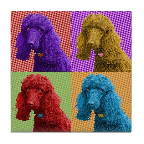 Jaz the Standard Poodle Tile Coaster