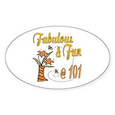 Floral 101st Oval Sticker