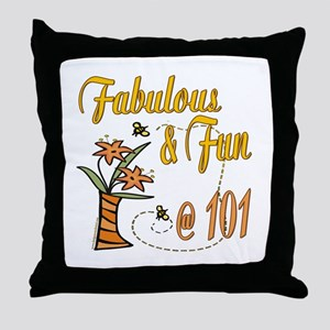 Floral 101st Throw Pillow