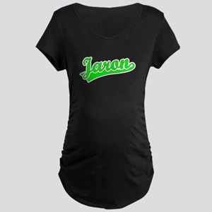 Retro Jaron (Green) Maternity Dark T-Shirt