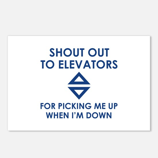 Shout Out To Elevators Postcards (Package of 8)