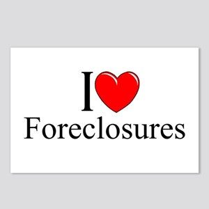 """I Love (Heart) Foreclosures"" Postcards (Package o"
