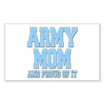 Army Mom and Proud of it Rectangle Sticker 10 pk)