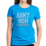 Army Mom and Proud of it Women's Dark T-Shirt