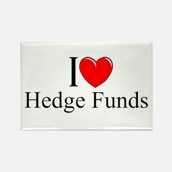 """I Love (Heart) Hedge Funds"" Rectangle Magnet"