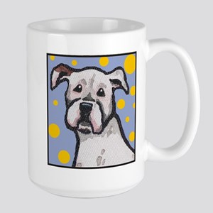 Boxer Dog White Face Large Mug