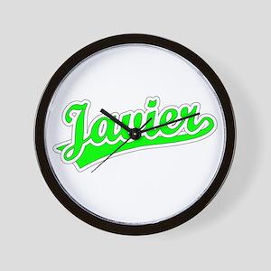 Retro Javier (Green) Wall Clock