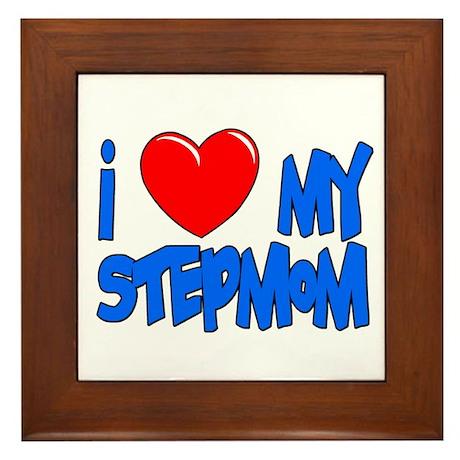 I heart my stepmom Framed Tile
