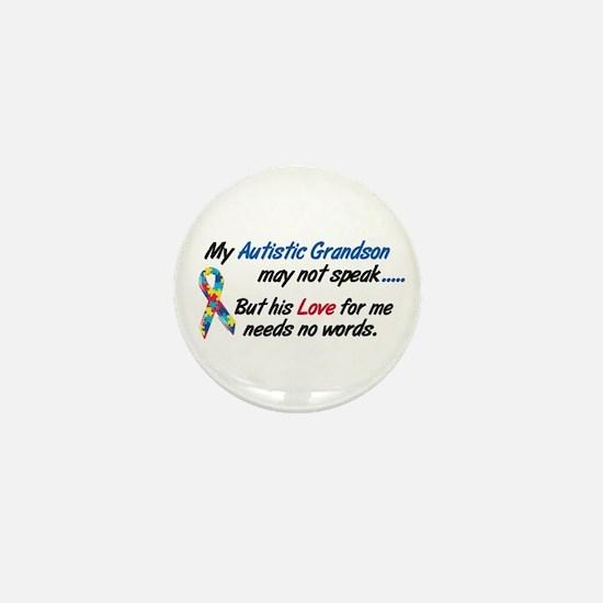 Needs No Words 1 (Grandson) Mini Button