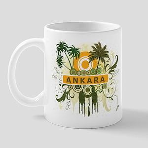 Palm Tree Ankara Mug