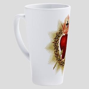 Sacred Heart 17 oz Latte Mug
