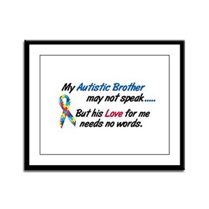 Needs No Words 1 (Brother) Framed Panel Print