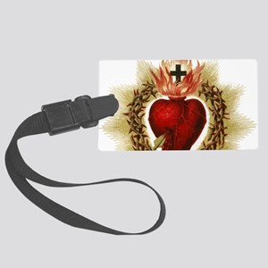Sacred Heart Large Luggage Tag
