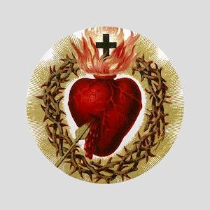 "Sacred Heart 3.5"" Button"