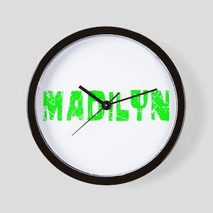 Madilyn Faded (Green) Wall Clock